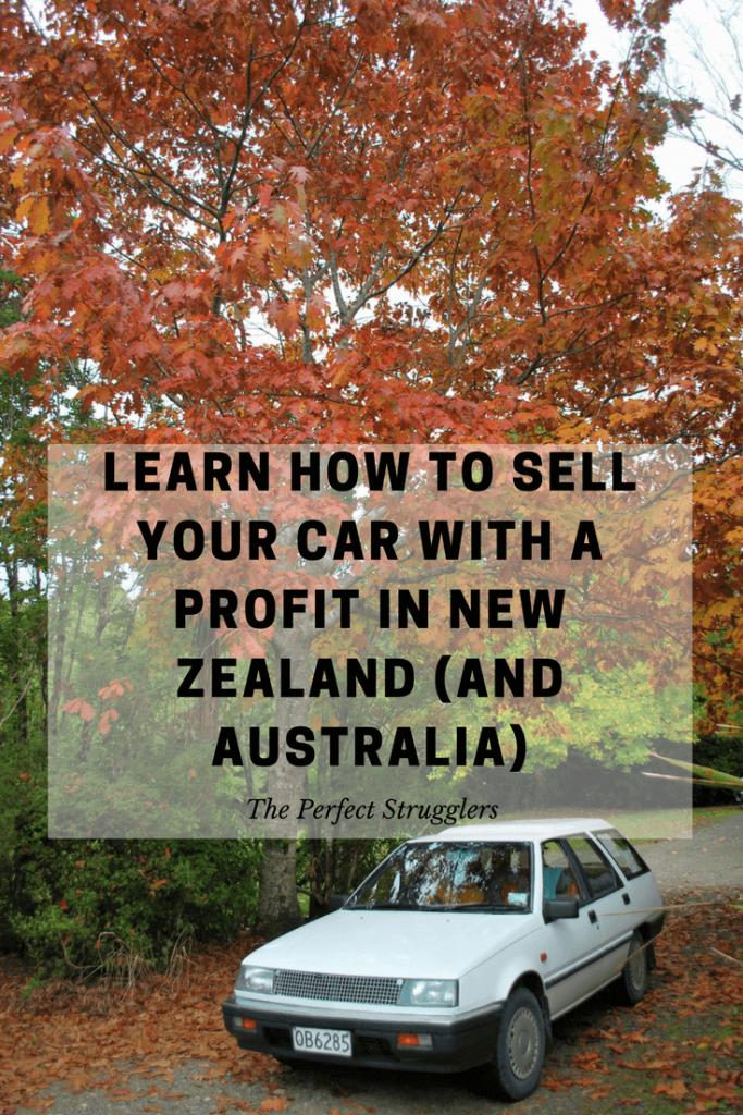 Sell car profit NZ New Zealand Australia