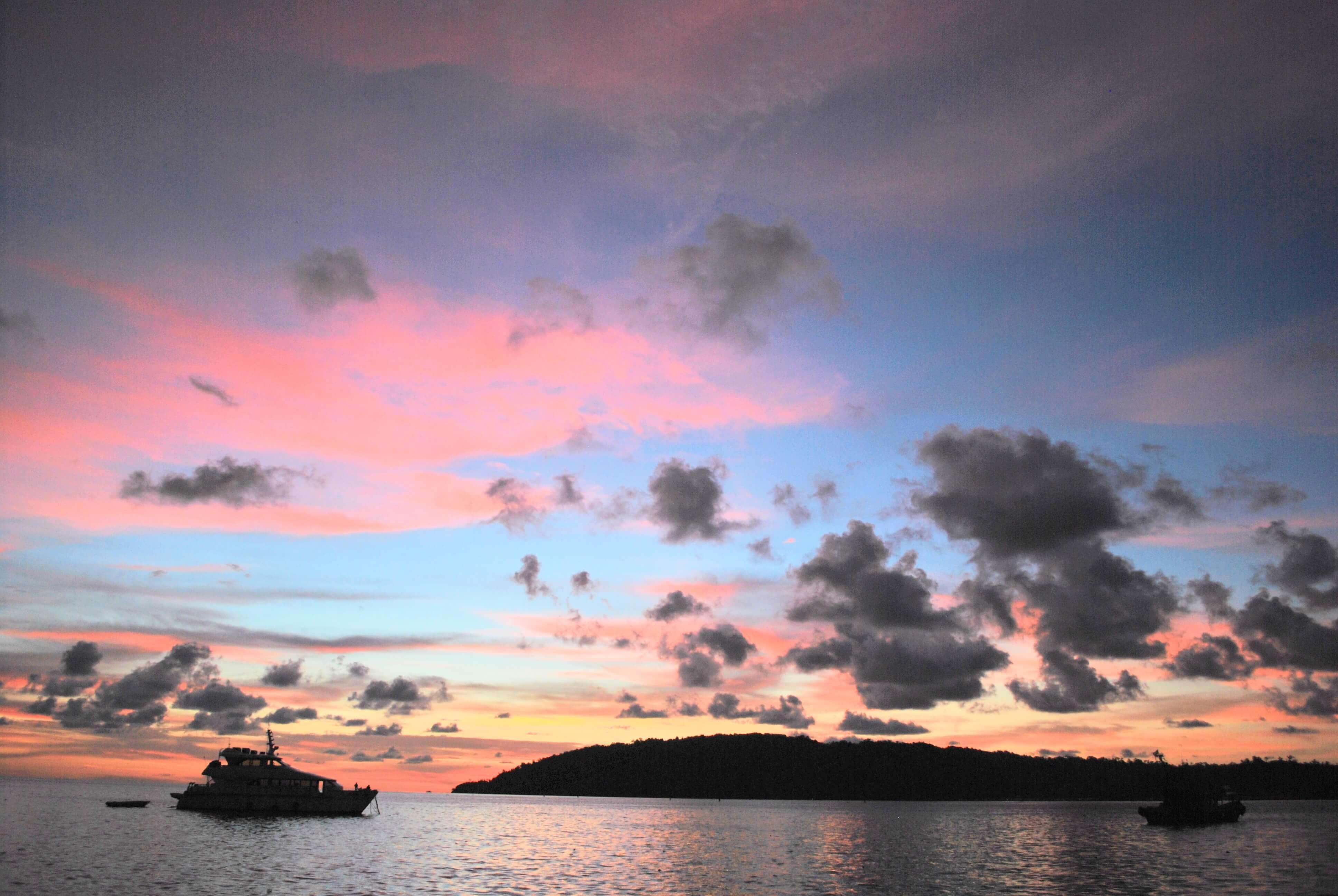 Long trip -beautiful sun sets