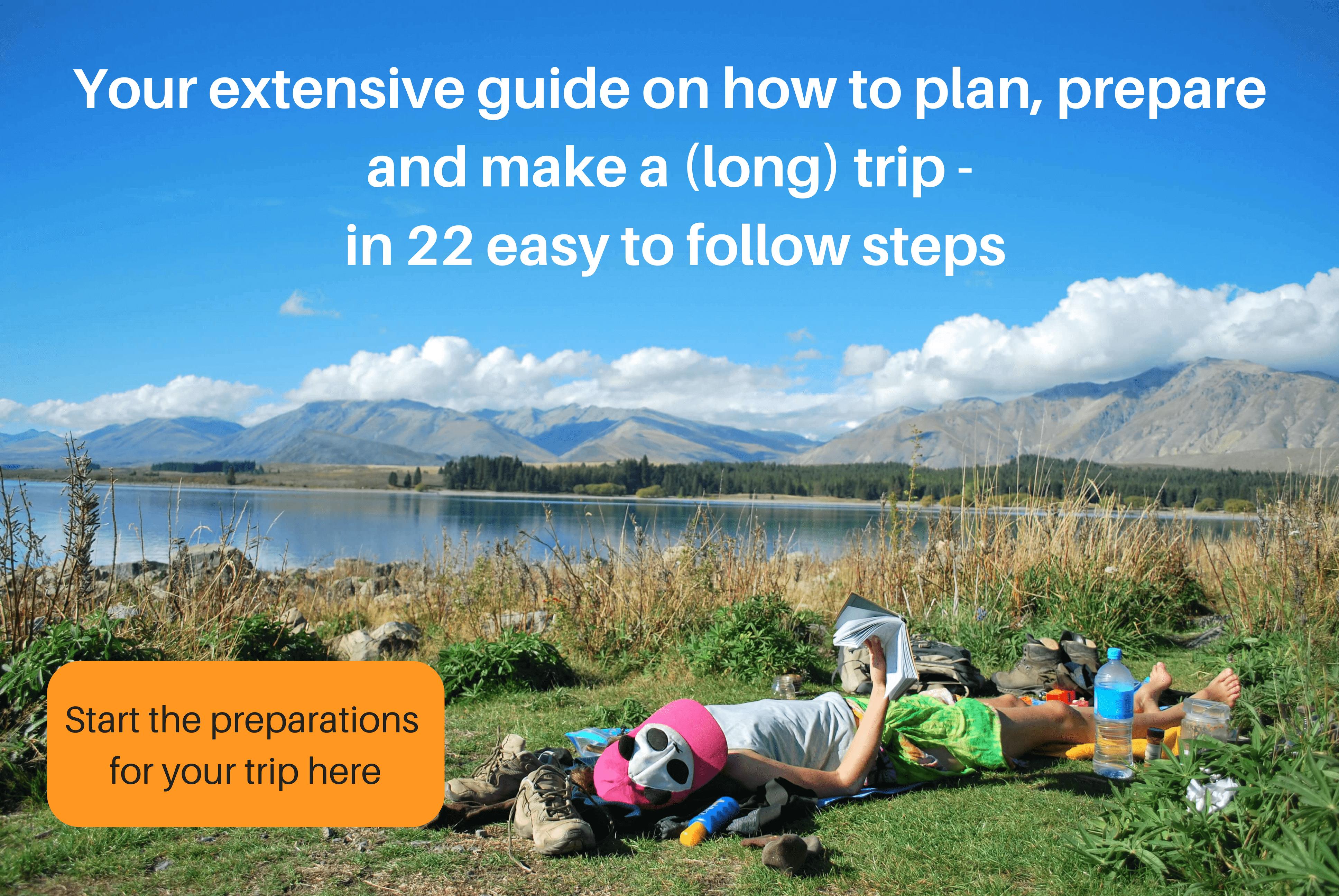 Trip preparation steps